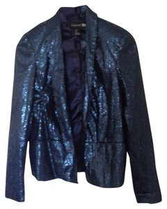 Forever 21 Blazer Blazer Navy Blue Blazer Going Out Navy Top Sequin