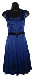 Simply Vera Vera Wang Hand Wash Back Zipper Jewel Accents Pleated Pockets Dress