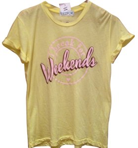 Wildfox I Break For Weekends T Shirt Yellow