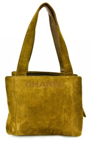 Chanel Logo Leather Cc Tote Shoulder Bag