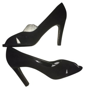 Ralph Lauren Suede Leather Strappy Evening Formal Wedding Classic Stacked Heel Office Corporate Label black Sandals
