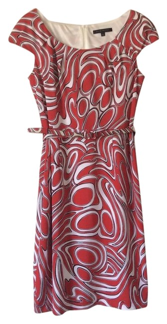Preload https://img-static.tradesy.com/item/6735865/david-meister-red-with-black-and-white-design-mid-length-cocktail-dress-size-petite-4-s-0-3-650-650.jpg