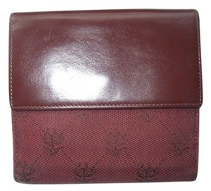Brooks Brothers Brooks Brothers Wallet Bifold Red Leather/Fabric Made in Italy