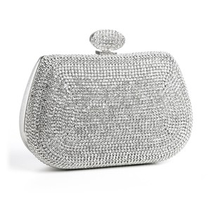 Double Sided Rhinestone Minaudire Wedding Evening Bag