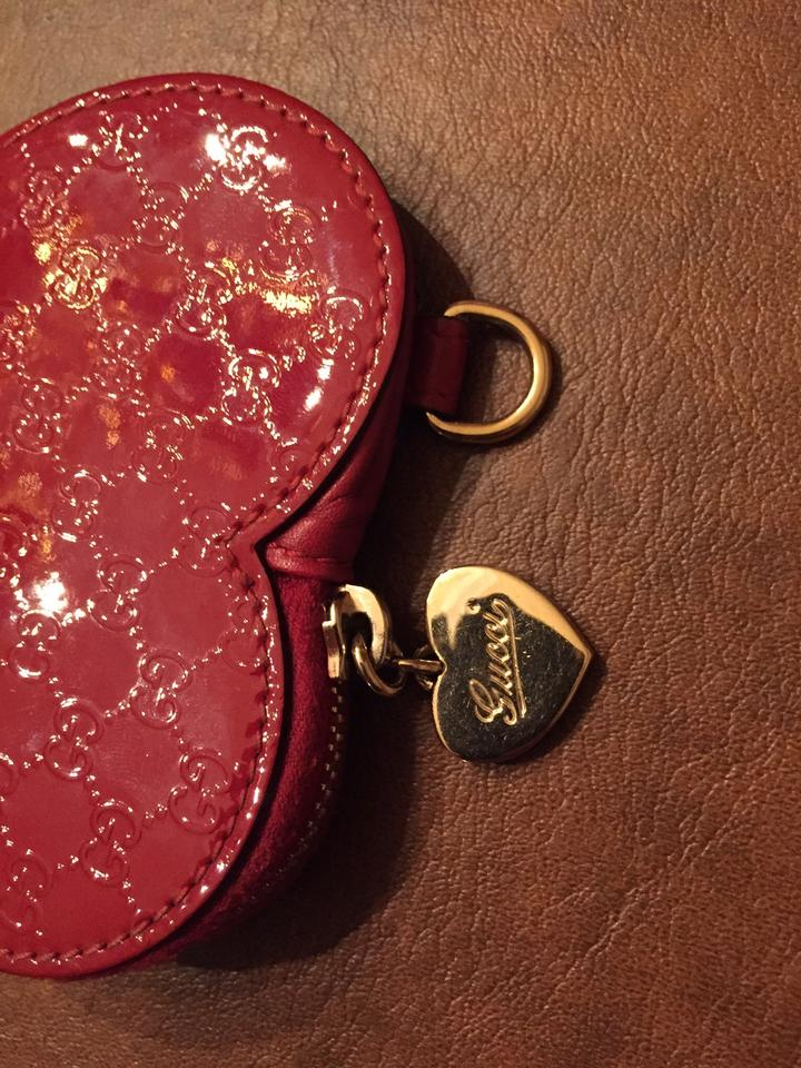 36c7aab5b41 Gucci Gucci Microguccissima Heart Shaped Leather Coin Purse Image 7.  12345678