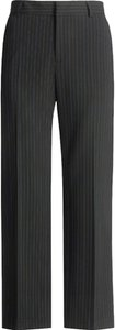 Hawksley & Wight Pinstripe Career Dress Straight Pants Black
