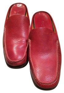 Cole Haan Leather 10 Womens Heeled Designer Quality red Mules