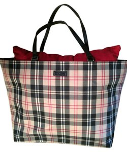 New York & Company Handbag Handled Large Tote in Black Red White