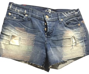 7 For All Mankind Cut Off Shorts Denim