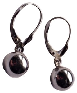 Other 14K White Gold Dangle Ball Earrings