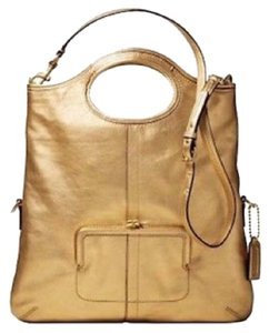 Coach Gold Convertible Tote Crossbody Clutch Ergo Lth 12250 B4 NWT MFSRP 478.00 Vintage Rare Handbag Leather Tote in Gold
