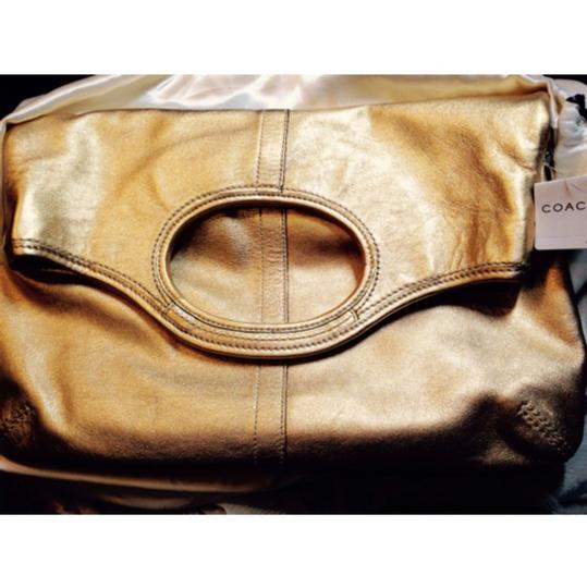 Coach Gold Convertible Tote Crossbody Clutch Ergo Lth 12250 B4 NWT MFSRP 478.00 Vintage Rare Handbag Purse Leather Tote in Gold Image 3