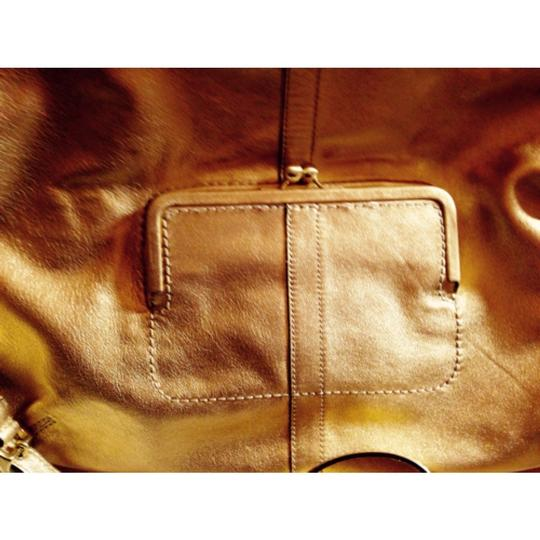 Coach Gold Convertible Tote Crossbody Clutch Ergo Lth 12250 B4 NWT MFSRP 478.00 Vintage Rare Handbag Purse Leather Tote in Gold Image 6