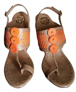 Tory Burch NUDE WITH ORANGE Sandals