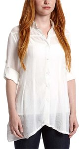 Simply Irresistable Button Down Collared Basic Button Down Shirt White