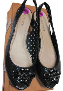 Ellen Tracy New Condition Black Flats