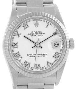 Rolex Rolex Datejust Midsize Steel 18k White Gold Watch 78274