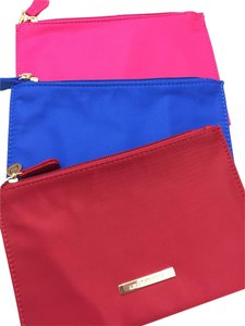 Liz Claiborne Liz Claiborne lot of three pouches in pink, blue, red