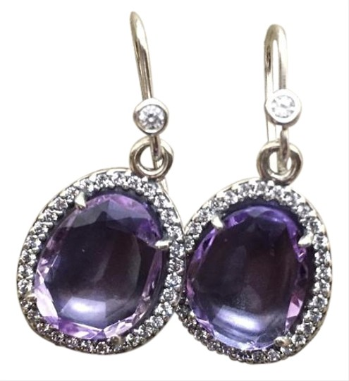 PANDORA Pandora New Sparkling Amethyst Earrings With