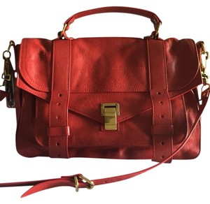 Proenza Schouler Red Buckle Strap Cross Body Bag