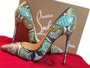 Christian Louboutin Louboutin So Kate Louboutin Python Louboutin Stilettos Red Bottoms multi-blue Formal