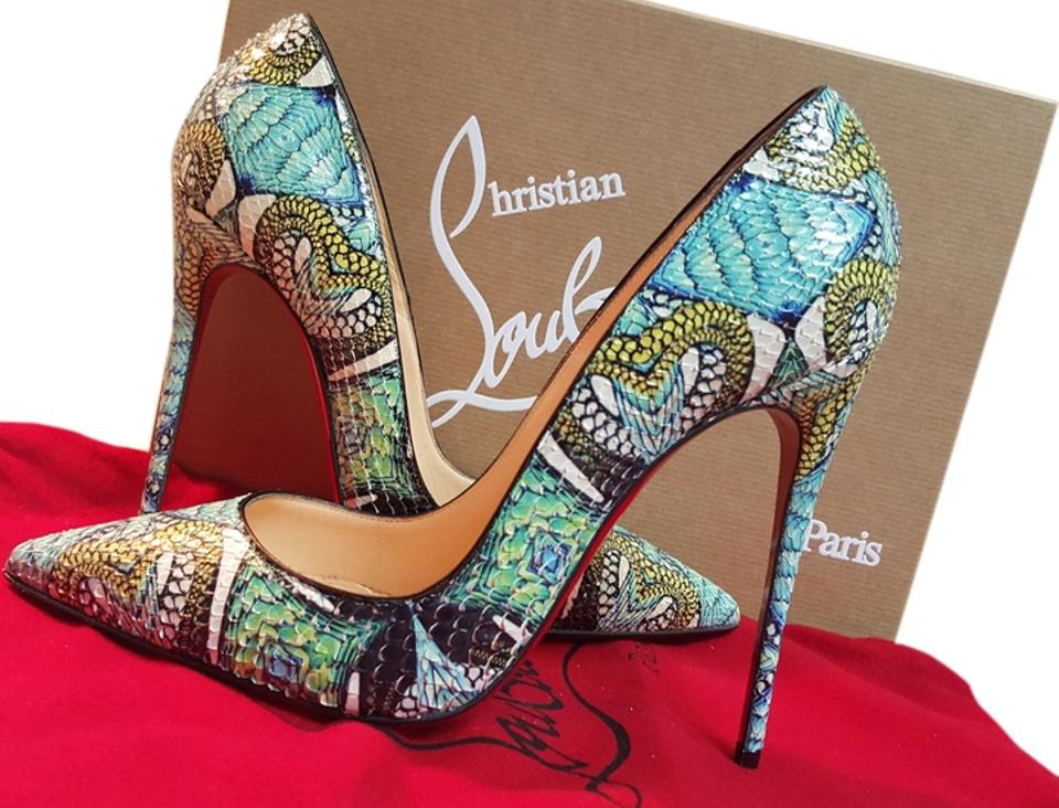 e7d66b791c51 Christian Louboutin Multi-blue Kate 120 Python Inferno Formal Shoes ...