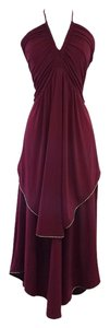 Marc by Marc Jacobs short dress Maroon Flowy Halter on Tradesy