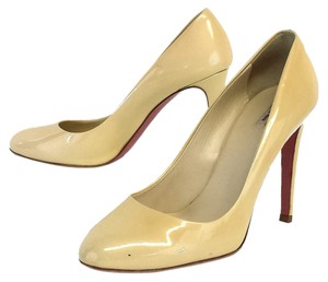 Miu Miu Cream Patent Leather Pumps