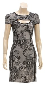 A.B.S. by Allen Schwartz short dress Black/Nude on Tradesy