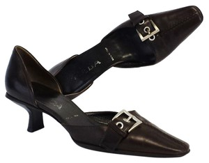 Prada Chocolate Brown Leather Heels Pumps