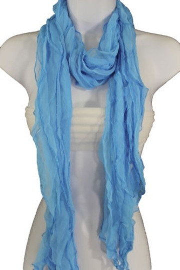 Alwaystyle4you Women Baby Blue Neck Scarf Tie Soft Wavy Fabric Wrap Sash Image 10