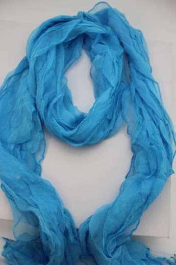 Alwaystyle4you Women Baby Blue Neck Scarf Tie Soft Wavy Fabric Wrap Sash Image 7