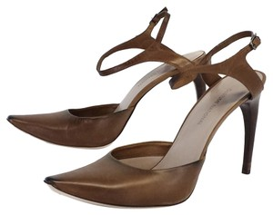 CoSTUME NATIONAL Taupe Leather Heels Sandals