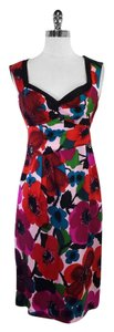 Nanette Lepore short dress Multi Color Floral Print Silk on Tradesy