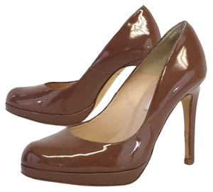 L.K. Bennett Taupe Patent Leather Pumps