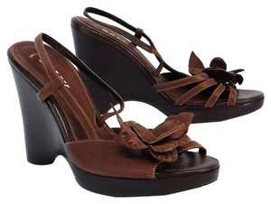 Bally Brown Leather Sandal Heels Sandals