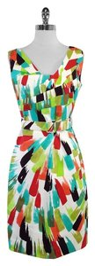 David Meister short dress Multi Color Print Cotton Sleevless on Tradesy