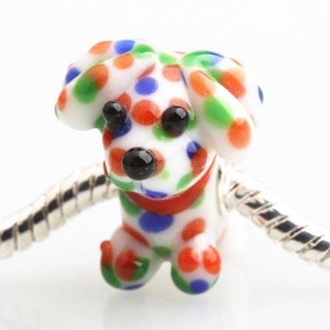 Mix Colorful Pandora Like Bead Charm Lovely Dog Jewelry Set
