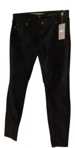 7 For All Mankind Skinny Pants black velvet
