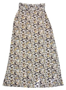 Emerson Fry Multi Color Spotted Print Silk Skirt