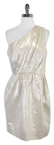 Shoshanna Metallic Linen Cotton One Dress