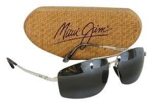 Maui Jim Silver Aviator Sunglasses