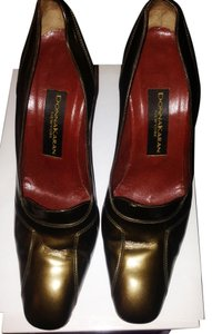 Donna Karan Metallic Green Pumps
