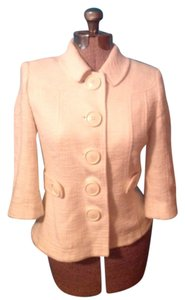 Tory Burch Blazer Buttons Lined Ivory Jacket