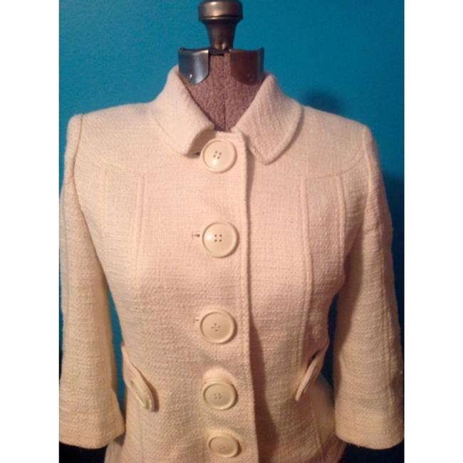 Tory Burch Blazer Buttons Lined Ivory Jacket Image 1