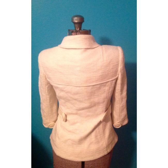 Tory Burch Blazer Buttons Lined Ivory Jacket Image 3