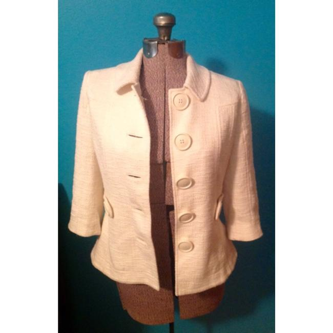 Tory Burch Blazer Buttons Lined Ivory Jacket Image 5