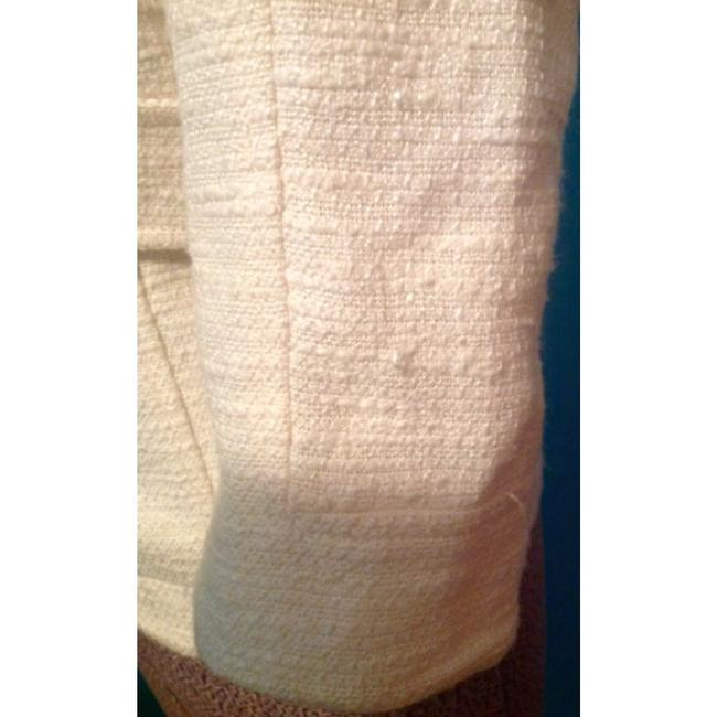 Tory Burch Blazer Buttons Lined Ivory Jacket Image 6