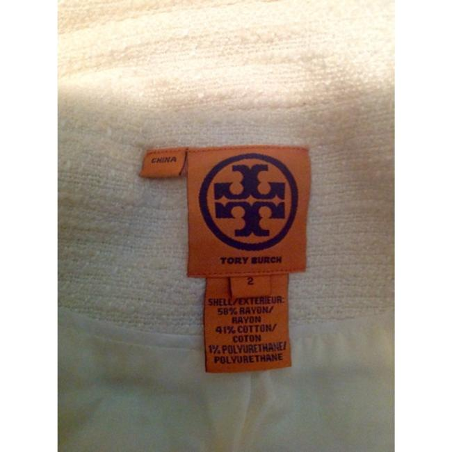 Tory Burch Blazer Buttons Lined Ivory Jacket Image 9