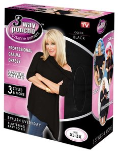 Suzanne Somers FAST SHIPPING-Suzanne Somers 3 Way Poncho